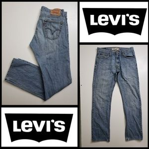 Levi's men denim blue straight cotton jeans